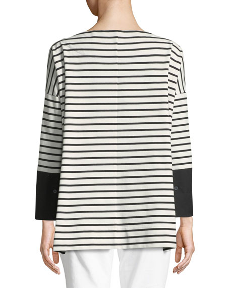 Piper Oversized Striped Top