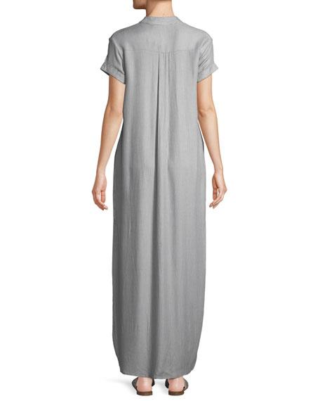 Kim Button-Front Coverup Maxi Dress