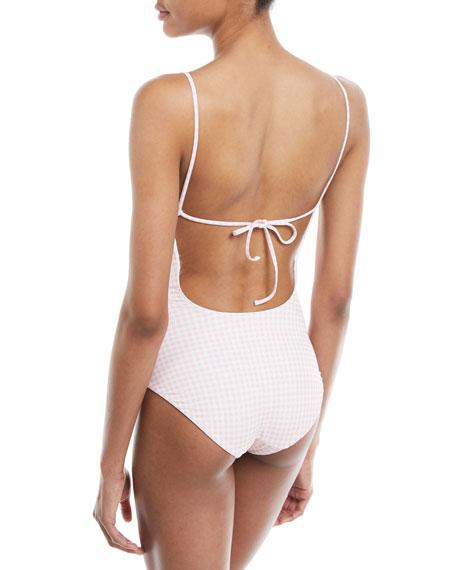 6517fb18988d0 Onia Gloria One Piece Swimsuit w/ Self-Tie Back