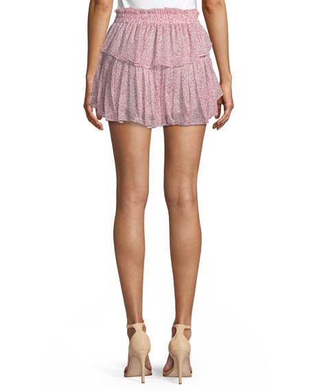 74302301b Loveshackfancy Tiered Ruffle Silk Mini Skirt