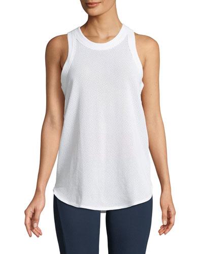 Soft Nylon Mesh Yoga, White