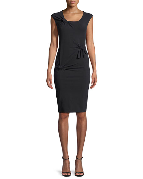 Scoop-Neck Sleeveless Knotted Tank Dress