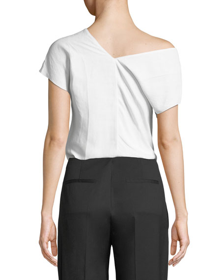 Asymmetric Linen Top