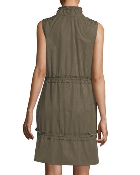 Cargo Drawstring Fit-&-Flare Mini Dress