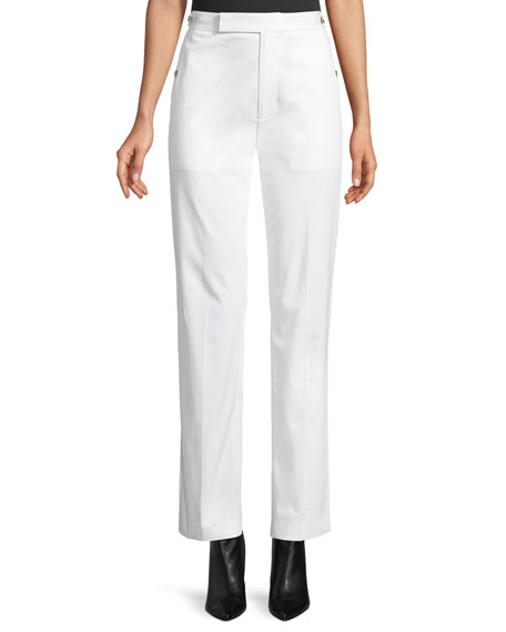 Helmut Lang Straight-Leg Cotton Pants