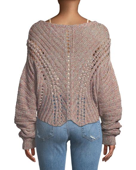 Roman Chunky Marled-Knit Sweater