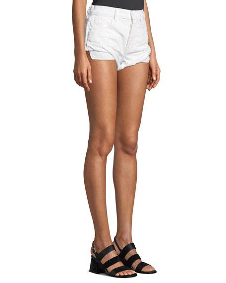 Hike Rolled Distressed Denim Shorts