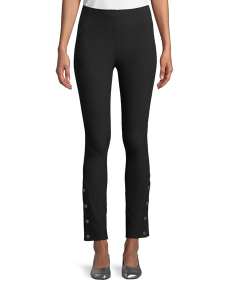 Simone High-Rise Slim Snap Pants