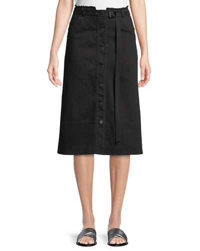 MERRITT - SLUB DENIM SKIRT