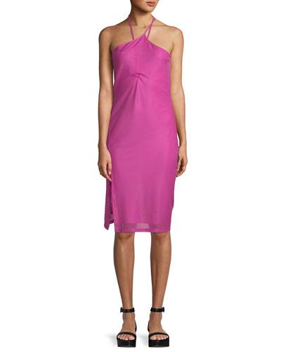 Pulled Halter Layered Slip Dress