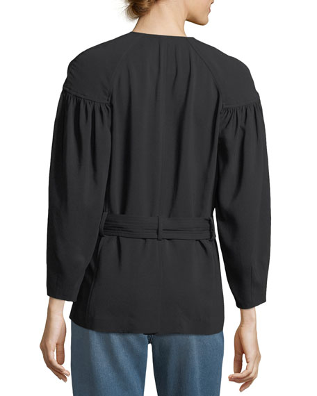 Kendrick Tie-Waist Wrap Jacket