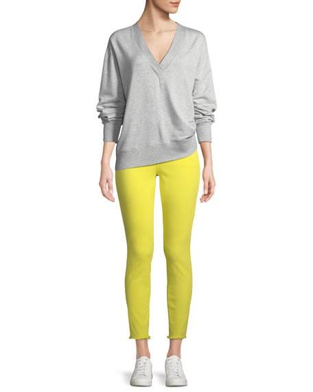 Alana High-Rise Cropped Skinny Jeans w/ Frayed Hem