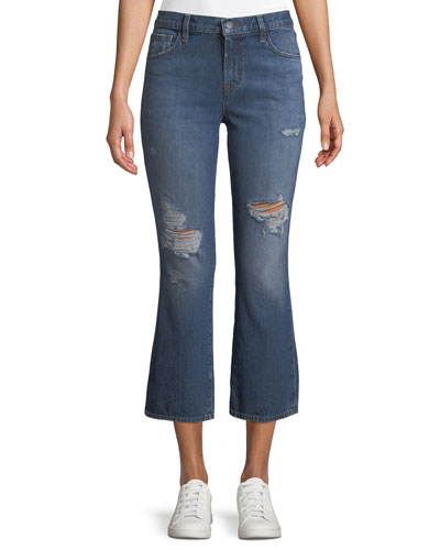 Aubrie High-Rise Crop Boot Flared Jeans
