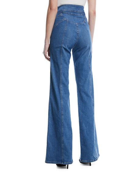 Farrah High-Waist Wide-Leg Jeans