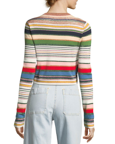 Palmas Metallic Striped Sweater