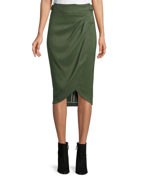 Silas Linen Wrap Skirt