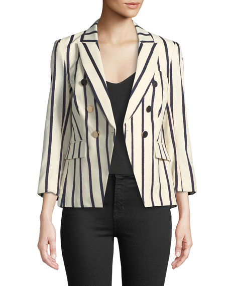 Empire Striped One-Button Dickey Jacket