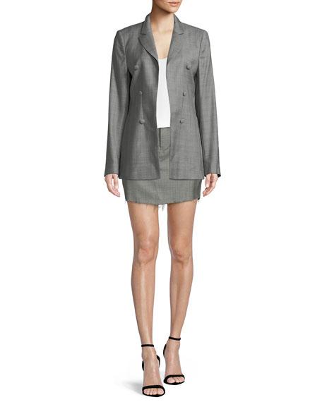 Callie A-Line Virgin Wool Mini Skirt