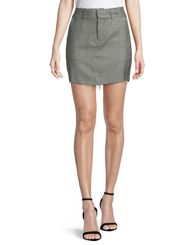 Callie A-Line Virgin Wool Mini Skirt