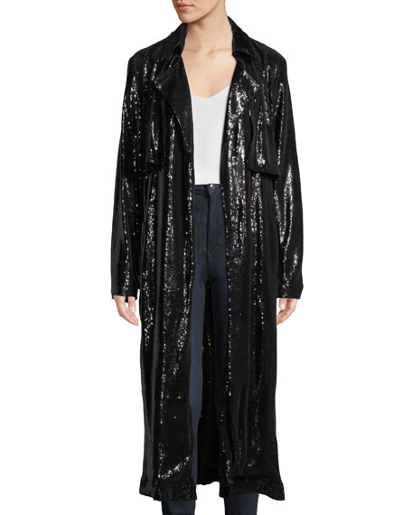 Karina Belted Sequined Jacket