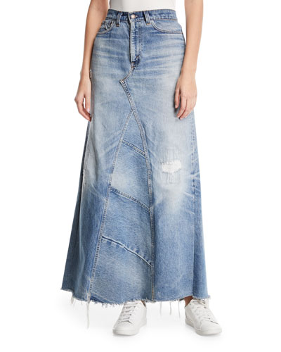 Vintage Denim Maxi Skirt (Assorted)
