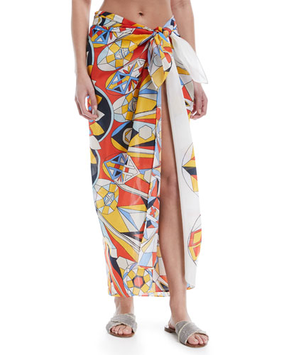 Printed Cotton-Silk Sarong