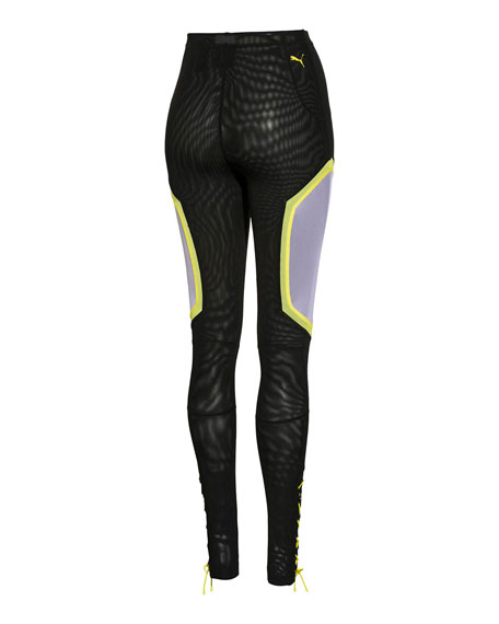Paneled Mesh Dolphin Pants