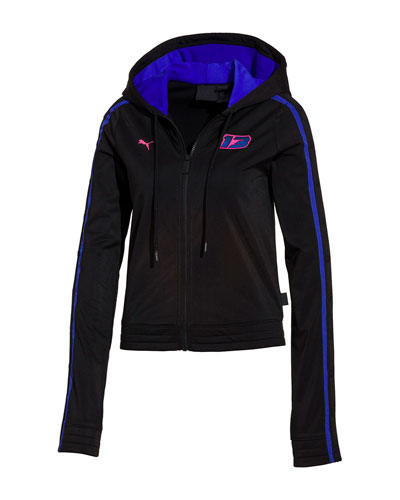 Zip-Front Fitted Tearaway Track Jacket