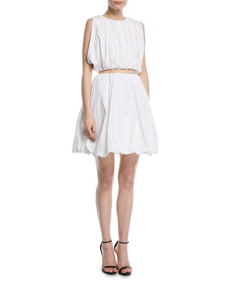 Puffy Cotton Mini Skirt
