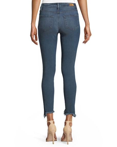 Verdugo Skinny-Leg Ankle Jeans with Torn Fray Hem