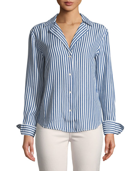 Elora Button-Down Striped Shirt