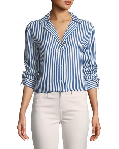 Elora Button-Down Striped Shirt