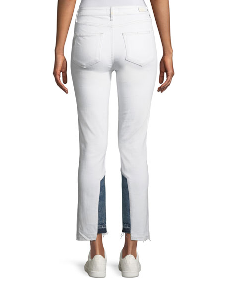 Hoxton Two-Tone Straight-Leg Cropped Jeans