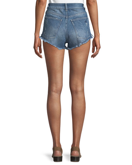 Cleo High-Rise Cutoff Shorts