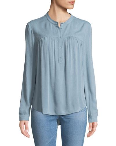 Jess Quarter-Placket Long-Sleeve Shirt