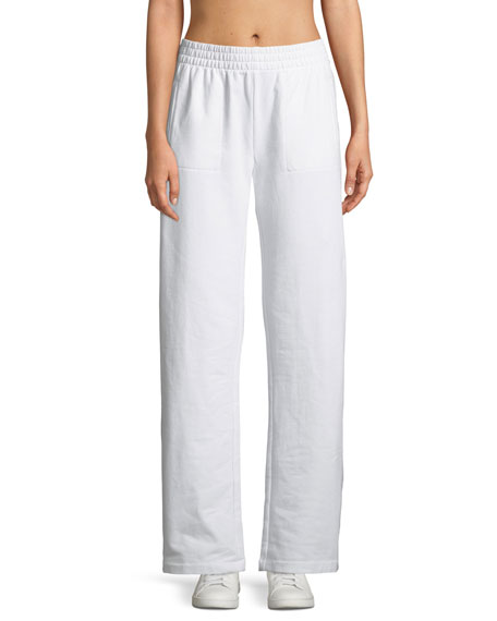 Side-Stripe Boyfriend Sweatpants