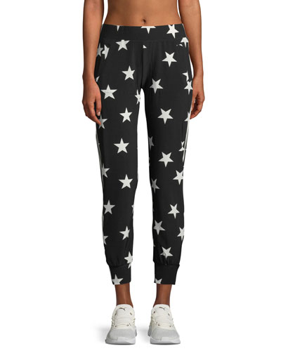 Star-Print Side-Stripe Jogger Pants