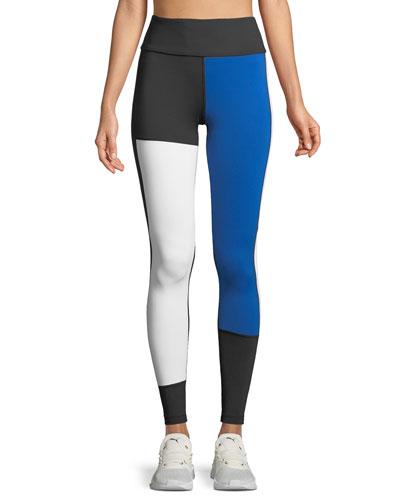 Patchwork Colorblock Performance Leggings