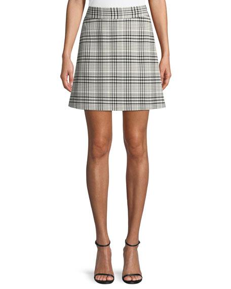 High-Waist Mini Brea Check Skirt