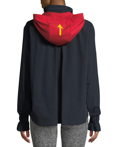 Andre Hooded Zip-Front Anorak Jacket
