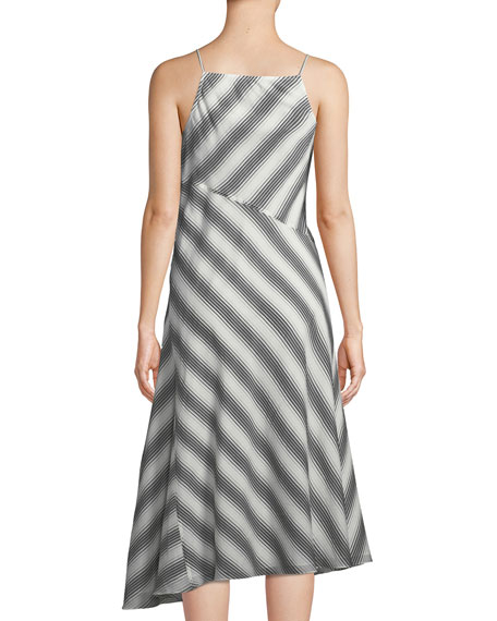 Summer Athens Spaghetti-Strap Striped Dress
