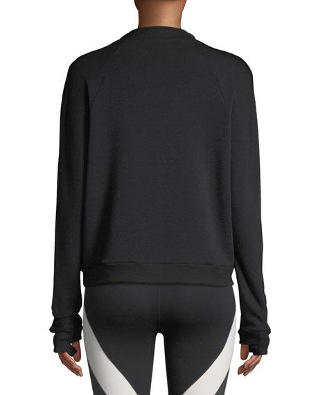Snap Me Down Raglan Pullover Sweatshirt