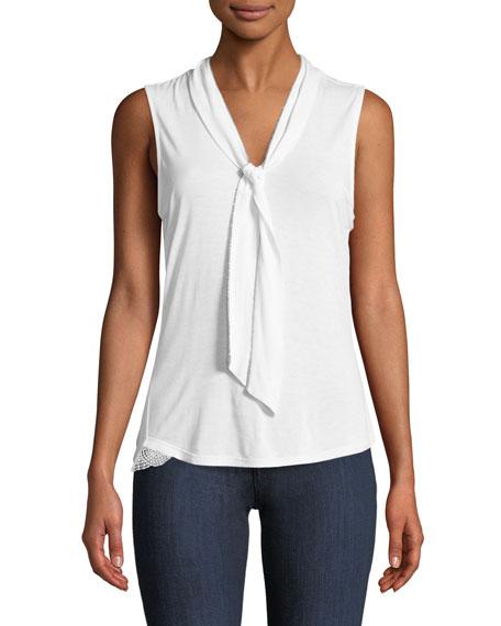 Lorde Knit Neck-Tie Top