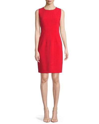 Tera Round-Neck Sheath Dress
