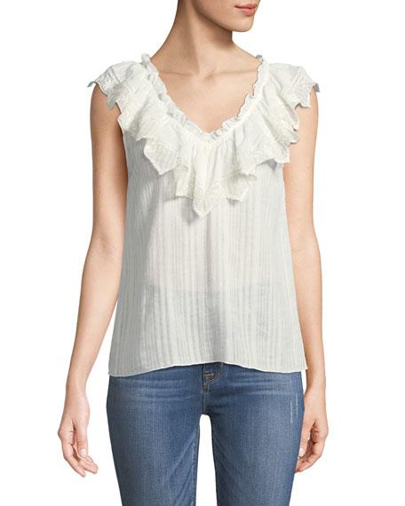 Mariana Sleeveless Cotton Blouse