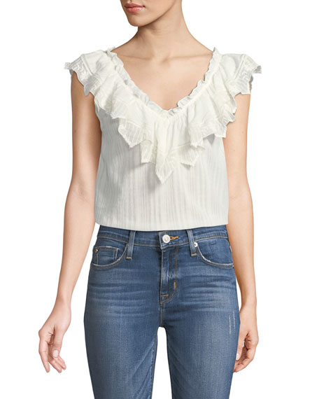 Mariana Sleeveless Cotton Blouse