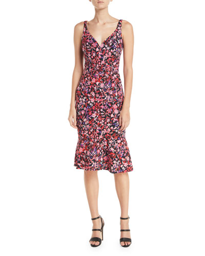 Yirma Sleeveless Floral-Print Dress