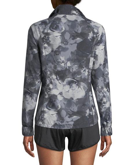 Reactor Floral-Print Zip-Front Jacket
