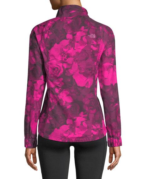 Zip-Front Floral-Print Reactor Jacket