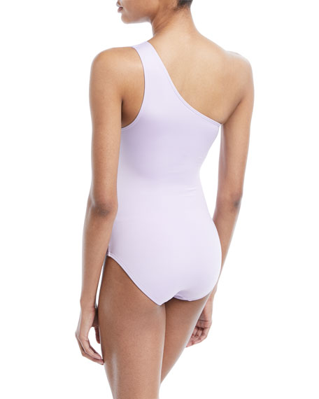 One-Shoulder Side-Knot One-Piece Swimsuit